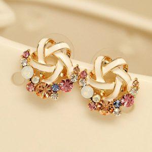 Gemstone Star stud earrings