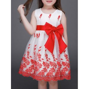 Embroidered Mini Ball Gown Dress