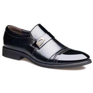 Metal Square Toe Formal Shoe